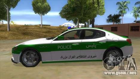 Maserati Iranian Police para GTA San Andreas left