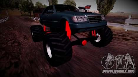 Mercedes-Benz W140 Monster Truck para vista inferior GTA San Andreas