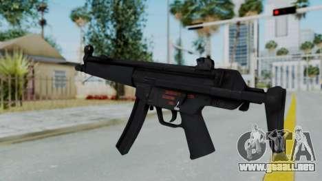 Arma AA MP5A5 para GTA San Andreas segunda pantalla