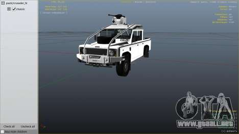 GTA 5 Land Rover 110 Pickup Armoured vista lateral derecha