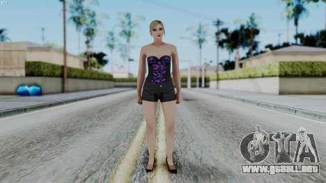 Female Skin 1 from GTA 5 Online para GTA San Andreas segunda pantalla