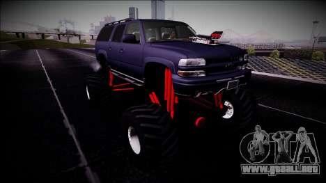 2003 Chevrolet Suburban Monster Truck para la visión correcta GTA San Andreas