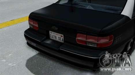 Chevrolet Caprice 1991 CRASH Division para GTA San Andreas vista hacia atrás