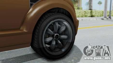GTA 5 Vapid Radius para GTA San Andreas vista posterior izquierda
