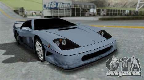 RC Turismo para GTA San Andreas vista hacia atrás