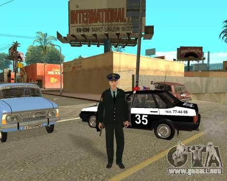 La Piel Es Sergei Glukharev para GTA San Andreas tercera pantalla
