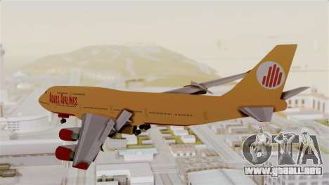 GTA 5 Jumbo Jet v1.0 Adios Airlines para GTA San Andreas left