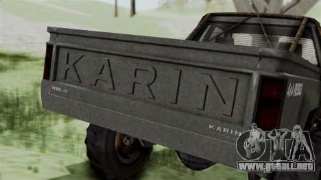 GTA 5 Karin Rebel 4x4 Worn IVF para la vista superior GTA San Andreas