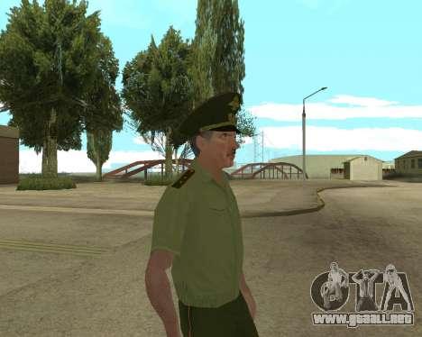 Suboficial mayor danyluk para GTA San Andreas sucesivamente de pantalla