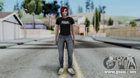 Female Skin 2 from GTA 5 Online para GTA San Andreas segunda pantalla