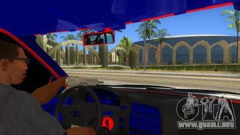VAZ 2112 Hobo para visión interna GTA San Andreas