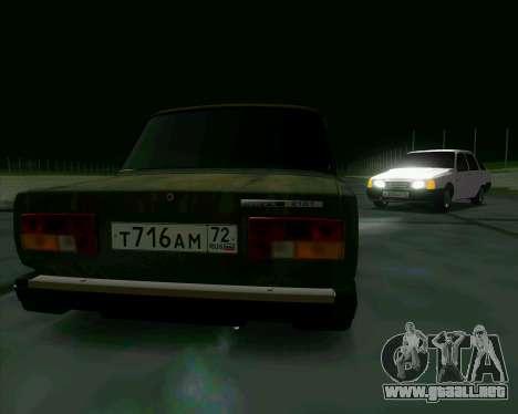 VAZ 2107 Hobo para la visión correcta GTA San Andreas
