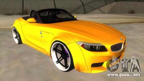 BMW Z4 Liberty Walk Performance para GTA San Andreas vista hacia atrás