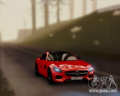 Mercedes-Benz AMG GT 2016 para GTA San Andreas vista posterior izquierda