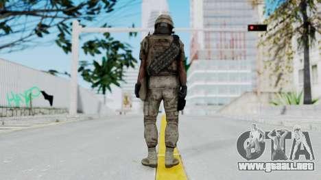 Crysis 2 US Soldier 1 Bodygroup B para GTA San Andreas tercera pantalla
