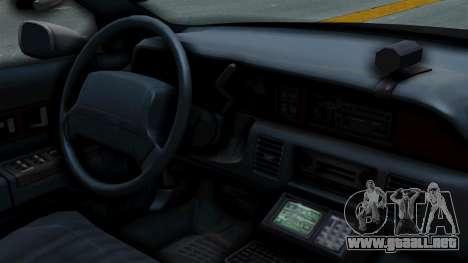 Chevrolet Caprice 1991 CRASH Division para la visión correcta GTA San Andreas
