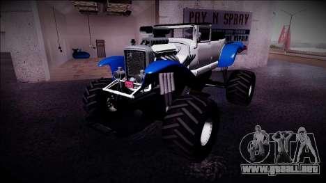 GTA 5 Albany Franken Stange Monster Truck para GTA San Andreas left