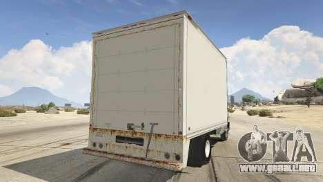 GTA 5 Chevrolet G-30 Cube Truck vista lateral izquierda trasera