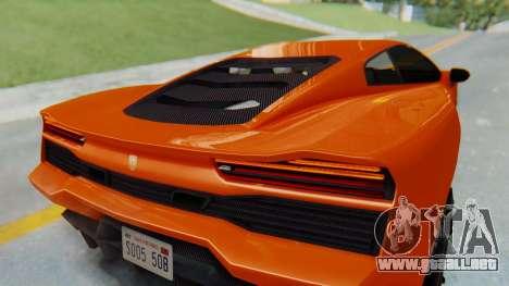 GTA 5 Pegassi Vacca IVF para GTA San Andreas vista hacia atrás
