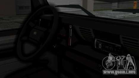 Land Rover Defender Vojno Vozilo para la visión correcta GTA San Andreas