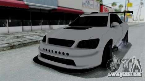 GTA 5 Karin Sultan RS Drift Double Spoiler PJ para GTA San Andreas interior