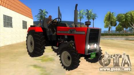 IMT Traktor para GTA San Andreas vista hacia atrás