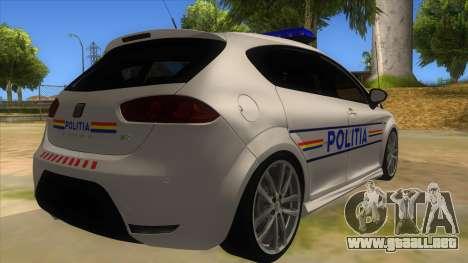 Seat Leon Cupra Romania Police para la visión correcta GTA San Andreas
