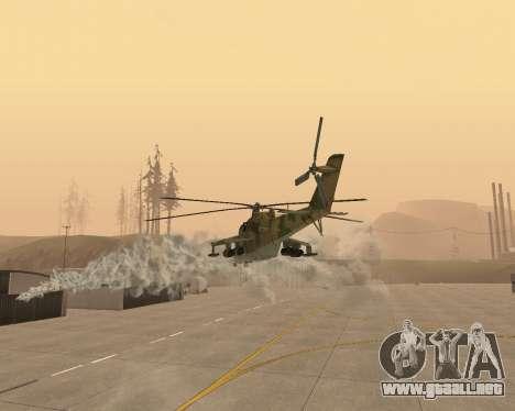 Un Mi-24 En El Cocodrilo para la vista superior GTA San Andreas