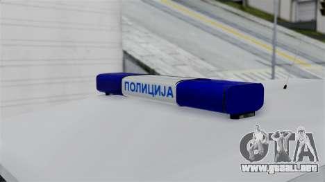 Land Rover Defender Serbian Border Police para la visión correcta GTA San Andreas