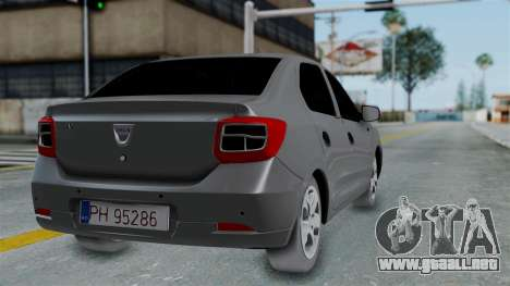 Dacia Logan para GTA San Andreas left
