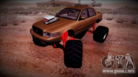 2003 Ford Crown Victoria Monster Truck para vista lateral GTA San Andreas