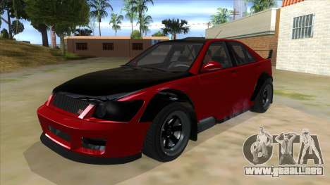 GTA V Karin Sultan RS 4 Door para visión interna GTA San Andreas