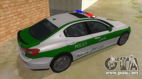 Maserati Iranian Police para la visión correcta GTA San Andreas