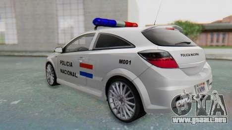 Opel-Vauxhall Astra Policia para la visión correcta GTA San Andreas