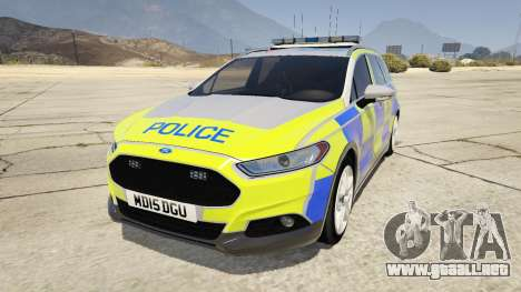 2014 Police Ford Mondeo Dog Section para GTA 5
