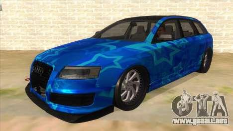 Audi RS6 Blue Star Badgged para GTA San Andreas