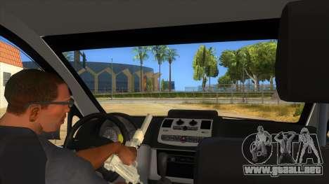 Mercedes Benz Vito Romania Police para visión interna GTA San Andreas