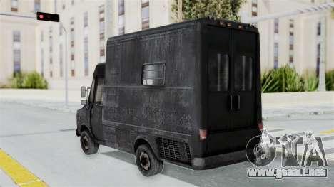 La camioneta de la policía de RE Brote para GTA San Andreas left