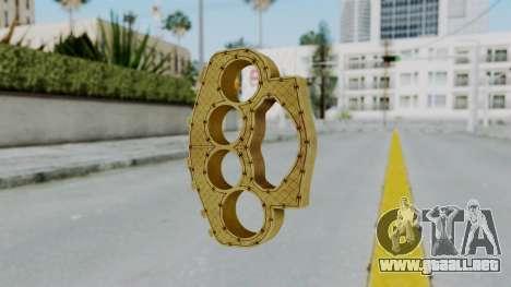 The Ballas Knuckle Dusters from Ill GG Part 2 para GTA San Andreas segunda pantalla