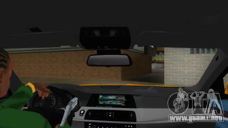 BMW M5 F10 para visión interna GTA San Andreas