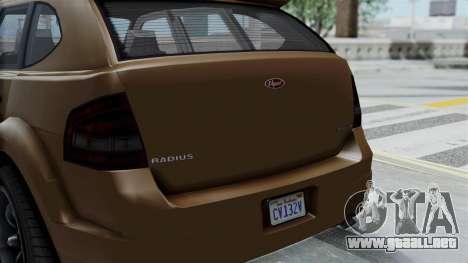 GTA 5 Vapid Radius para la visión correcta GTA San Andreas