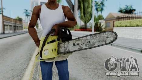 No More Room in Hell - Chainsaw para GTA San Andreas tercera pantalla
