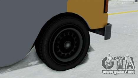 GTA 5 Tacovan para GTA San Andreas vista posterior izquierda