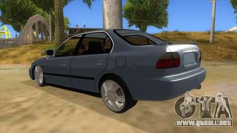 Honda Accord Sedan 1997 para GTA San Andreas vista posterior izquierda