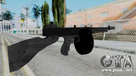 GTA 5 Gusenberg Sweeper - Misterix 4 Weapons para GTA San Andreas segunda pantalla