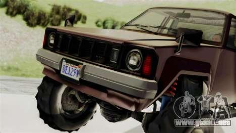 GTA 5 Karin Technical Cleaner IVF para GTA San Andreas vista hacia atrás
