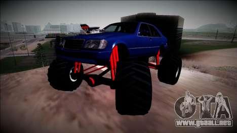 Mercedes-Benz W140 Monster Truck para vista lateral GTA San Andreas