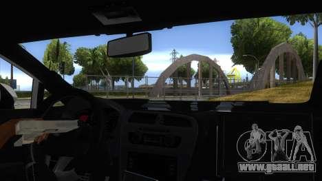 Seat Leon Cupra Romania Police para visión interna GTA San Andreas