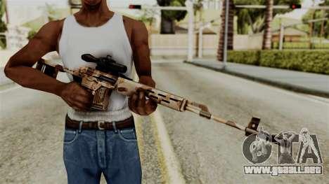 Dragunov Elite para GTA San Andreas tercera pantalla