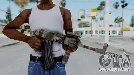 Arma OA AK-47 Eotech para GTA San Andreas tercera pantalla